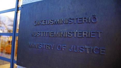 Oikeusministeriö Helsingin keskustassa.