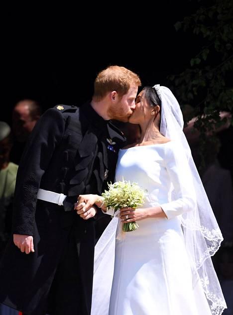 Harry ja Meghan avioituivat toukokuussa 2018.