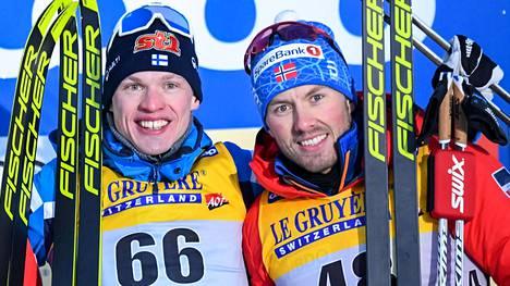 Iivo Niskanen ja Emil Iversen ovat kavereita.