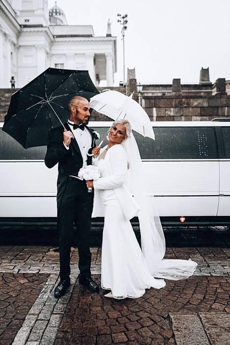 Karoliina ja Patrick avioituivat lokakuussa 2019.