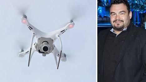 Arto Rajamäki uskoo autonomiseen lennokkivalvontajärjestelmäänsä. Suomen kaakkoisella rajalla testataan kuvassa näkyviä droneja.