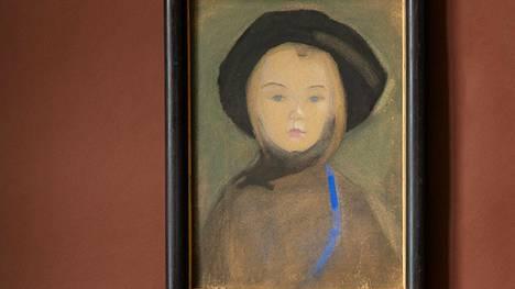 Helene Schjerfbeckin akvarelli Sininauhainen tyttö myytiin ennätyshintaan.
