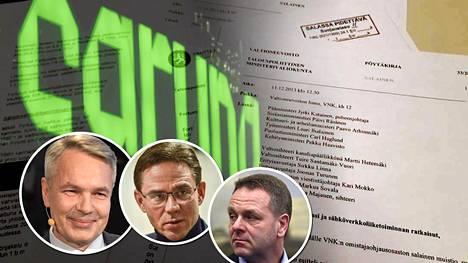 Pekka Haavisto, Jyrki Katainen ja Jan Vapaavuori käsittelivät Fortumin sähköverkkojen myyntiä.
