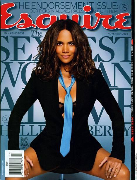 Halle Berry poseerasi Esquire-lehden kannessa vuonna 2008.