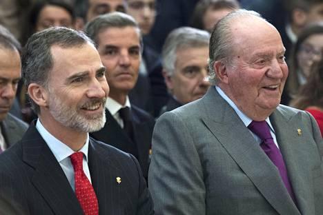 Juan Carlos luopui viisi vuotta sitten kruunustaan poikansa Felipen hyväksi.