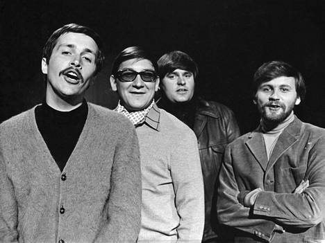 Kivikasvot vuonna 1970: Georg Dolivo (vas.), Ilkka Hemming, Matti Siitonen ja Ismo Sajakorpi.