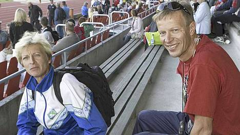 Marja-Liisa ja Harri Kirvesniemi Kalevan kisoissa 2006.
