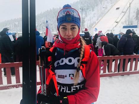 Anna Zherebjatjeva kilpaili viikonloppuna Rukan maailmancupissa. Nuorten maailmanmestari jäi kauas kärkisijoista.