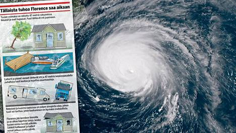 Florence-myrskyn tuhoista on tulossa suuret.