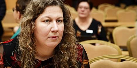 Paun Heidi Nieminen osallistui SAK:n edustajiston kokoukseen torstaina.