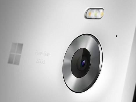 Lumia 950:ssä on 20 megapikselin kamera.