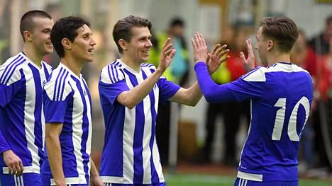 HJK palasi kilpapeleihin voitokkaasti Suomen cupissa. Kuva helmikuulta 2020.