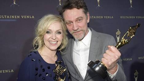 Sorjonen-sarjan Anu Sinisalo ja Ville Virtanen palkittiin Kultainen Venla -gaalassa 13. tammikuuta Helsingissä.