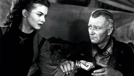 Howard Hawksin ohjaaman Punaisen virran pääosissa hehkuvat Joanne Dru sekä John Wayne.