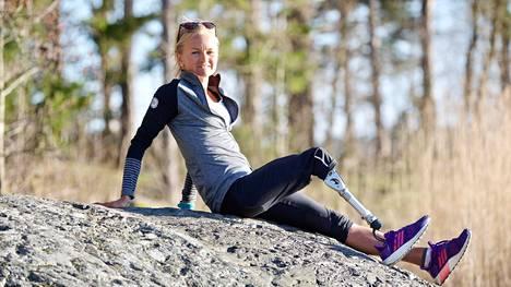 Pratriathlonisti Liisa Lilja kuvattuna toukokuussa 2018 Helsingissä.