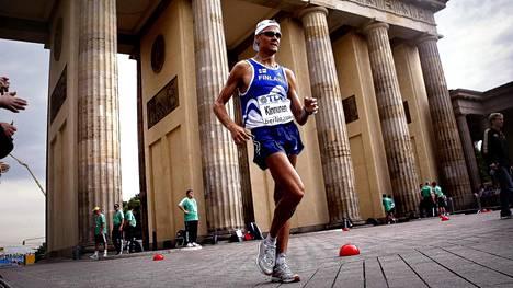 Jarkko Kinnunen hakee jatkossakin arvokisamenestystä 50 kilometrin kävelyssä. Kuva vuoden 2009 Berliinin MM-kisoista.