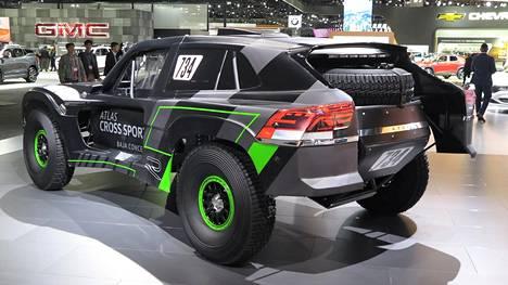 Volkswagenin aavikkoralleihin rakennettu kilpa-auto on kuin sliipattu versio Mad Max -elokuvan ajoneuvoista.