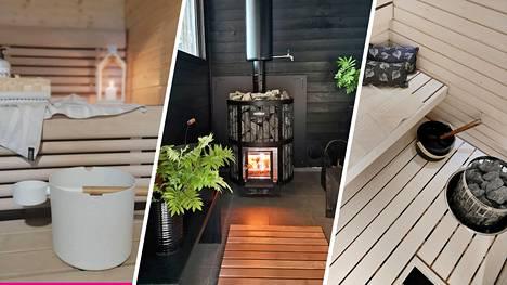 Myös saunaa voi sisustaa. Taitavat suomalaiset sisustajat näyttävät mallia, miten löylyhuoneeseen saa sitä jotakin.