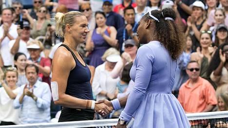 Serena Williams eteni Yhdysvaltain avoimissa neljännesfinaaliin