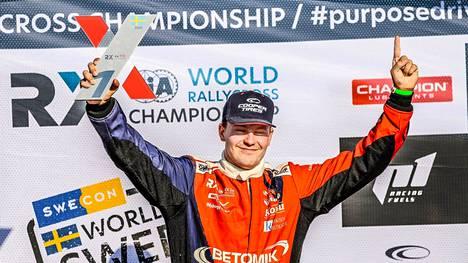 Jesse Kallio ajoi makeaan voittoon.