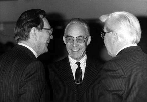 Max Jakobson, Mika Tiivola ja Jaakko Lassila Eva-päivillä vuonna 1984.
