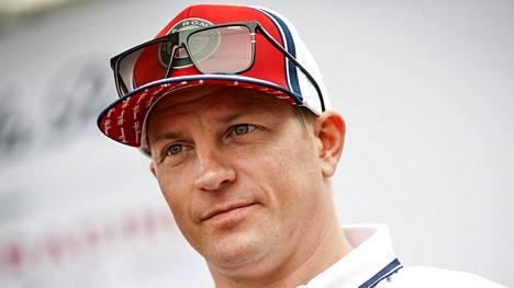 Kimi Räikkönen kuvattuna viime kaudella.