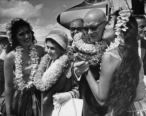 Presidenttipari Havaijilla 1961.
