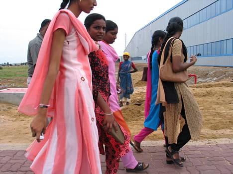 Nokian työntekijöitä Chennaissa.