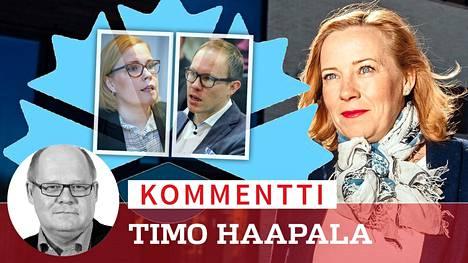Sanna Lauslahti (oik.) siirtyy puoluetovereidensa Laura Rädyn ja Lasse Männistön perässä yksityisen terveydenhuollon palvelukseen.
