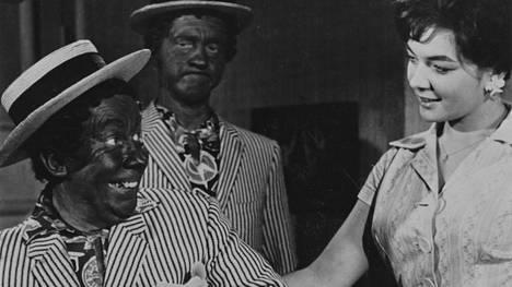Esa Pakarinen ja Masa Niemi elokuvassa Pekka ja Pätkä neekereinä (1960).
