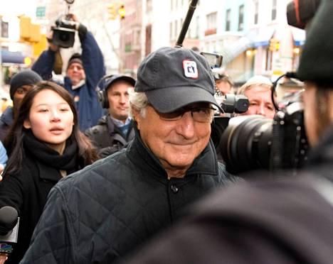 Bernie Madoff New Yorkissa joulukuussa 2008.