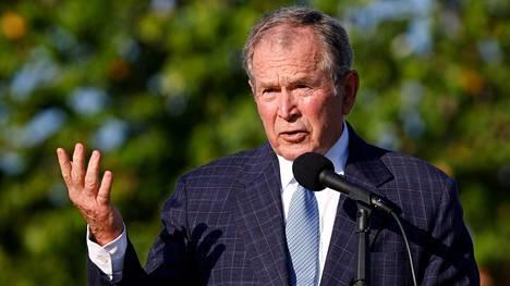 Yhdysvaltain ex-presidentin George W. Bushin mukaan Naton sotilaiden vetäminen Afganistanista on virhe.