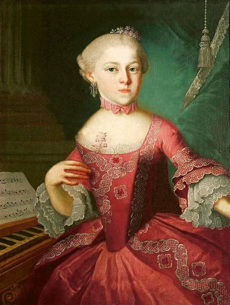 Maria Anna Mozart (s. 1751) oli musiikillinen ihmelapsi, jonka piti lopettaa uransa 18-vuotiaana sukupuolensa vuoksi.