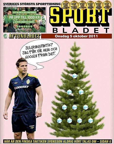 Sportbladetin kansi 5. lokakuuta 2011.