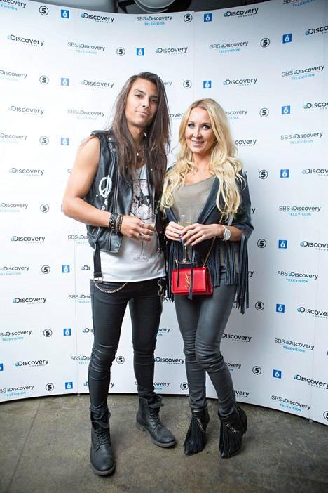 Pariskunta poseerasi yhdessä vuonna 2014.
