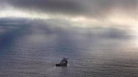 Australian Ocean Shield -alus etsi kadonnutta malesialaiskonetta Intian valtameren pohjasta jo viime huhtikuussa.