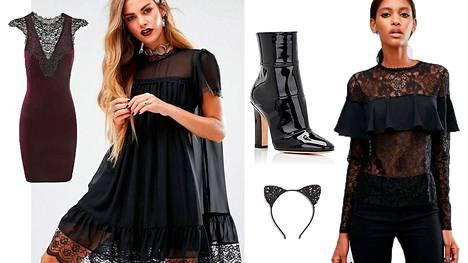 Halloween-asun voi koota ketjuliikkeidenkin vaatteista ja asusteista.