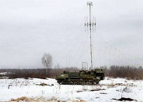 Borisoglebsk-järjestelmä asennettuna panssaroituun telavaunuun.