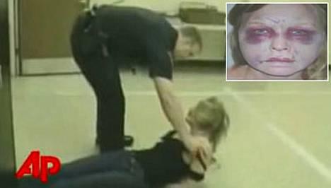 Angela Garbarino pidätettiin Yhdysvalloissa epäiltynä rattijuopumuksesta. Kuulusteluissa valvontakamera kytkettiin pois päältä ja nainen löytyi henkihieveriin hakattuna.