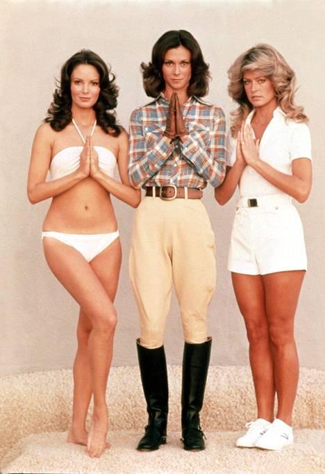 Tältä Charlien enkelit -kolmikko näytti 70-luvulla. Kuvassa vasemmalta oikealle Jaclyn Smith, Kate Jackson ja Farrah Fawcett.
