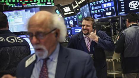 New Yorkin pörssissä hymy ei hyytynyt.
