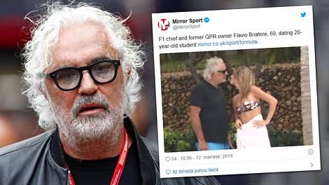 Flavio Briatorella, 69, on uusi tyttöystävä.