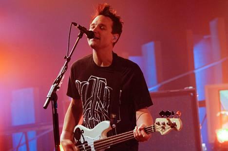 Mark Hoppus on yksi Blink 182 -yhtyeen perustajajäsenistä.