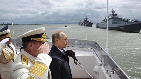 Vladimir Putin vieraili Baltijskissa Kaliningradissa viime kesänä. Kaupungissa on Venäjän Itämeren laivaston tukikohta.