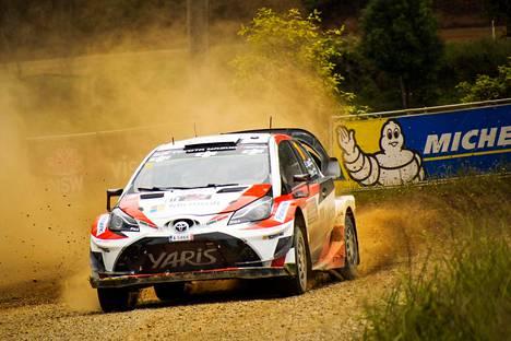 Esapekka Lappi sijoittui Toyota Yaris WRC:llä lopulta kuudenneksi Australian MM-rallissa.