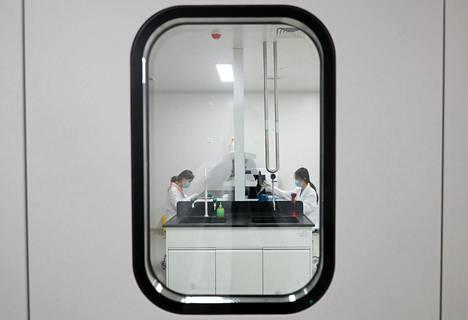 Kiinalainen Sinovac Biotech -yhtiö kehittää toimintakyvyttömäksi tehtyivin viruksiin perustuvaa koronarokotetta. Kuvassa yhtiön laboratorio Pekingissä syyskuun lopussa.