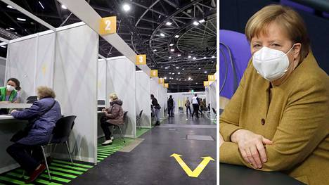Angela Merkel on saanut kritiikkiä rokotetahdin hitaudesta.