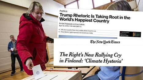 Amerikkalaismediat uutisoivat Suomen tulevista eduskuntavaaleista.