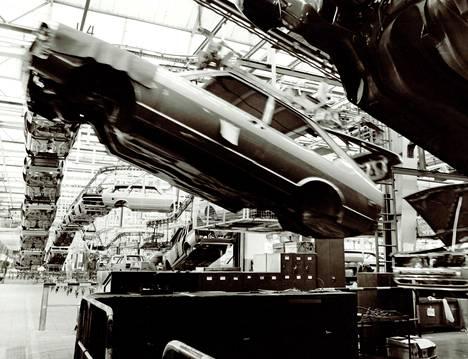 Tällaista oli Passatin tuotanto 1978. Nykyään Passatia valmistetaan kolmessa maanosassa, kymmenessä tehtaassa ja yli sataan maahan.