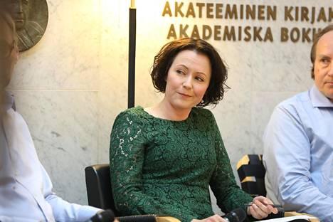 Jenni Haukio on ohjelmajohtajana vastuussa koko kirjamessujen ohjelmasta.